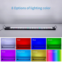Aquarium LED Bar Light Waterproof Fish Tank Light 30/45CM Underwater Lamp Aquariums Decor Lighting 220V EU US UK AU Power 46cm 18pcs led aquarium fish tank light tube bar light underwater submersible air bubble safe lighting us eu uk saa plug