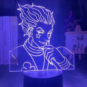 Kids Night Light Gift Led Touch Sensor Colorful Bedroom Nightlight Anime Hunter X Hunter Decor Light Cool 3d Lamp Hisoka Gadgets(China)