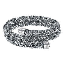 High quality SWA original LOGO crystal wide single grey Bracelet цена
