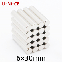 U-Ni-CE 3/10/30 pieces 6mmX30mm strong cylinder rare earth magnet 6X30 neodymium N35 Mini small magnets 6*30mm