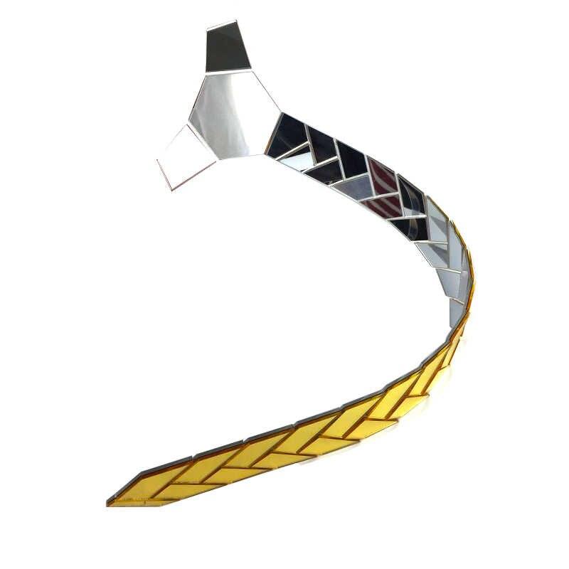 可逆ミラーネクタイ片側 n 片側シルバー上品クリスマスギフトアクリル輝くネクタイスリムネクタイクリップセット