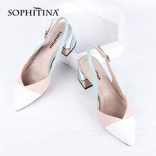 Сандалии sophitina женские из натуральной кожи босоножки на