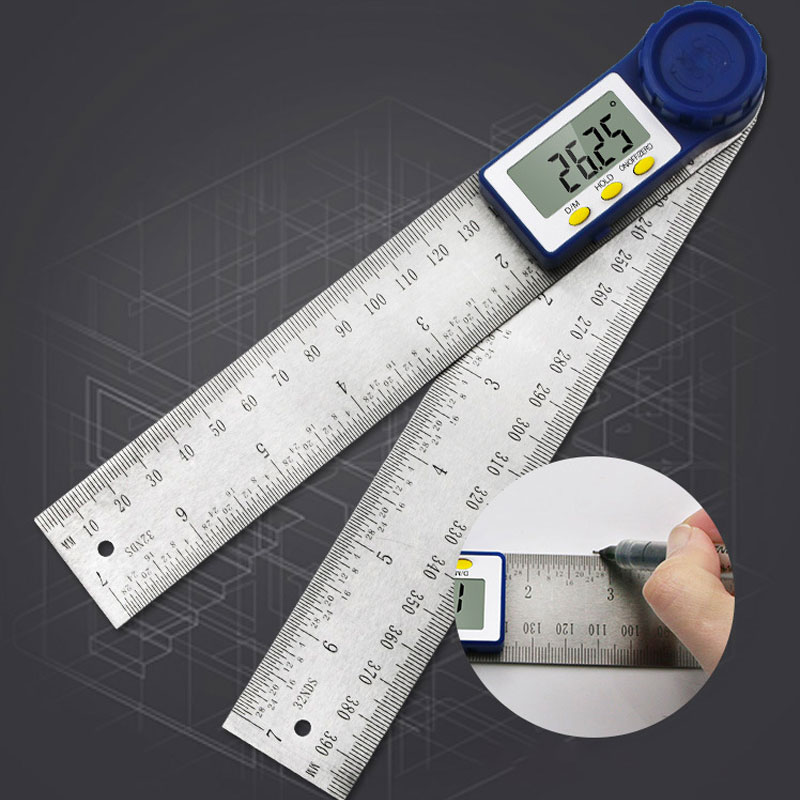 200mm Digital Protractor 7 Inch Digital Angle Finder Protractor Ruler Meter Inclinometer Goniometer Level Electronic Angle Gauge