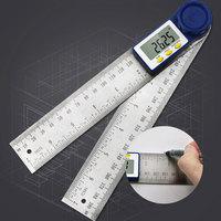 200mm digital transferidor 7 Polegada digital ângulo localizador transferidor régua medidor inclinômetro goniômetro nível medidor de ângulo eletrônico|Transferidores| |  -