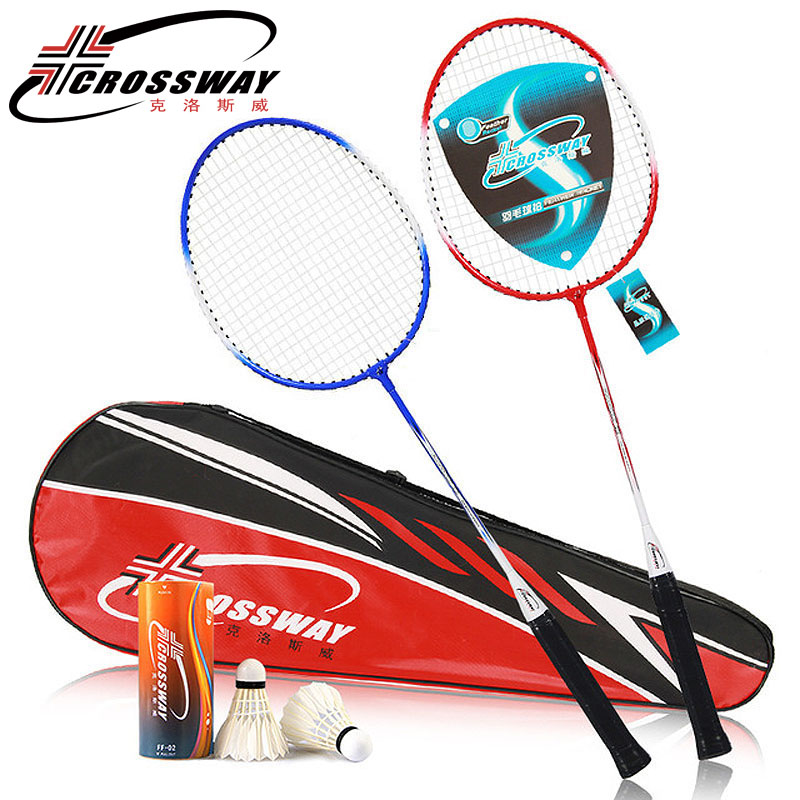 CROSSWAY Quality Badminton Rackets Professional Set Family Youngster Double Badminton Racquet And Badminton Bag Sports Racket