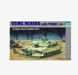 TRUMPETER Assembled Electric Model 1/35 America M1A1 Ha Main Battle Tank With Mine Sweeping Plough 00335-