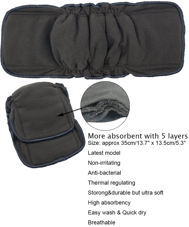 Reusable Bamboo Charcoal Insert Baby Cloth Diaper Mat Bamboo Cotton Nappy Inserts Changing Liners Charcoal Insert Wholesale