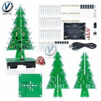 Three/Seven Color Flash Christmas Tree Parts Kit Diy Gift tree Christmas Tree 3D LED Flash Circuit Parts Fun Suite Gift