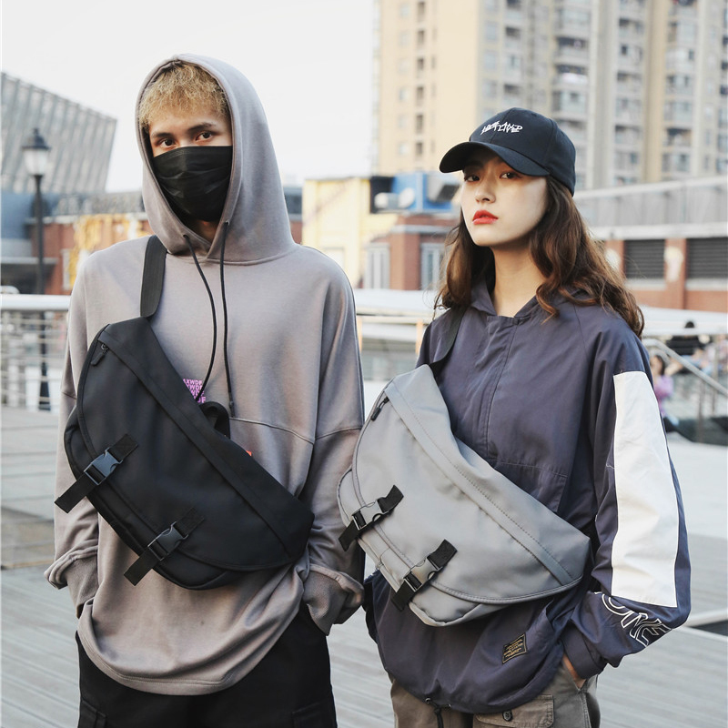 Large Capacity Waist Bag Hip Hop Couple Shoulder Diagonal Bags Oxford Woven Diagonal Chest Bag Female Fanny Pack Male Waist Pack