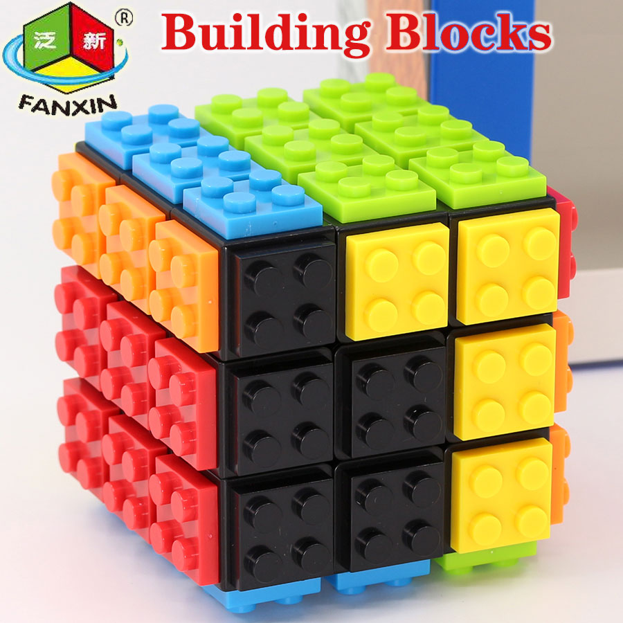 Puzzle Magic Cube FanXin Building Blocks Cube 3x3x3 3x3 Speed Cube  Puzzles Educational Logic DIY Toys For Children Game Cubes
