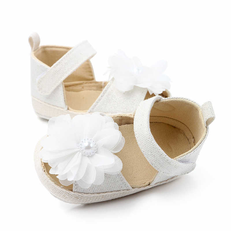Summer Toddler Sandals Non-slip Baby Shoes Girls New Cute Newborn Infant Baby Girls Flower Princess Shoes