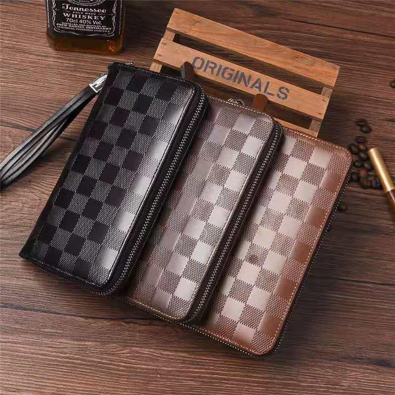 Long Men Female Wallet Money Clip Wallet Multi-card Card ID Holders Package Purse Brand Leather Keychain Wallet Purse Packet