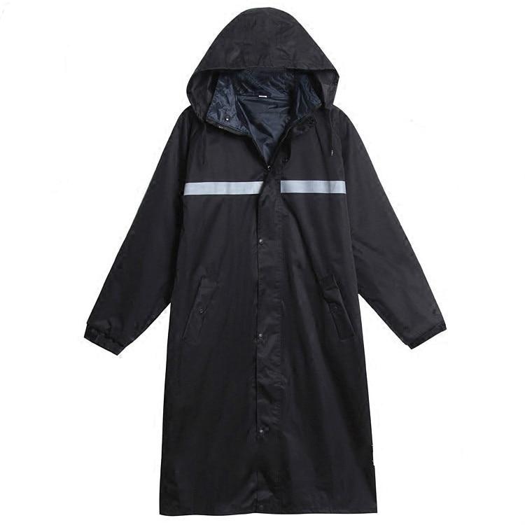Long Raincoat Thicken Durable Outdoor Adults Men Waterproof Rain Coat Police Working Motercycle Rainwear Trench Hood 60YY49