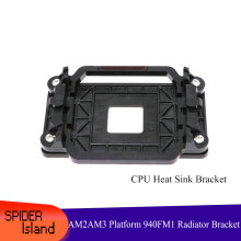Black AMD Motherboard Bracket AM2 AM3 Platform 940 FM1 Radiator Bracket CPU Fan Baffle(China)