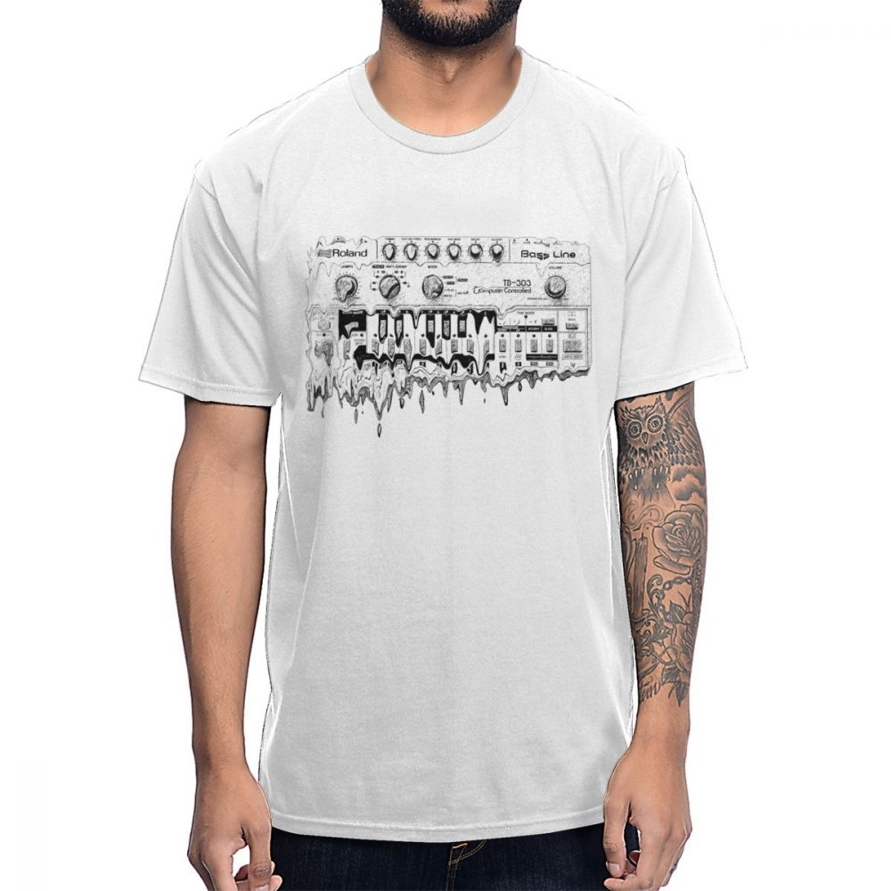 Synthesizer Roland TB 303 T Shirt Synth Analog Korg Techno Electronic Music Tee Young Design Big Size Homme T-Shirt