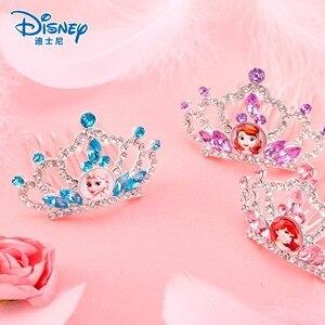Настоящий Костюм Принцессы Диснея, Холодное сердце, Анна, Эльза, Ариэль, наряд, корона, парик, волшебный макияж для костюмированной вечеринк...
