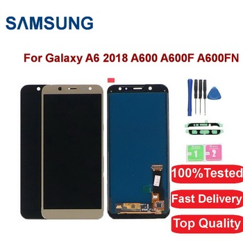 100%Tested For Samsung Galaxy A6 2018 LCD Display A600 A600F A600FN LCD Display Touch Screen Digitizer Assembly Replacement