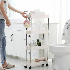 Rack Bathroom Assemble Slide-Tower Gap-Storage Plastic Shelf Space-Saving-Organizer Movable