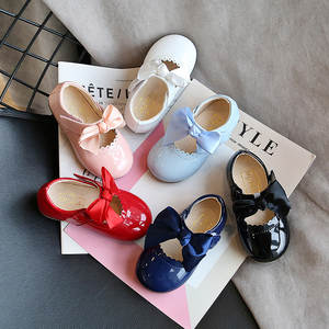 Baby Shoes Girl Princess Children's D04203 Smooth Soft-Bottom Candy-Color Bow-Tie