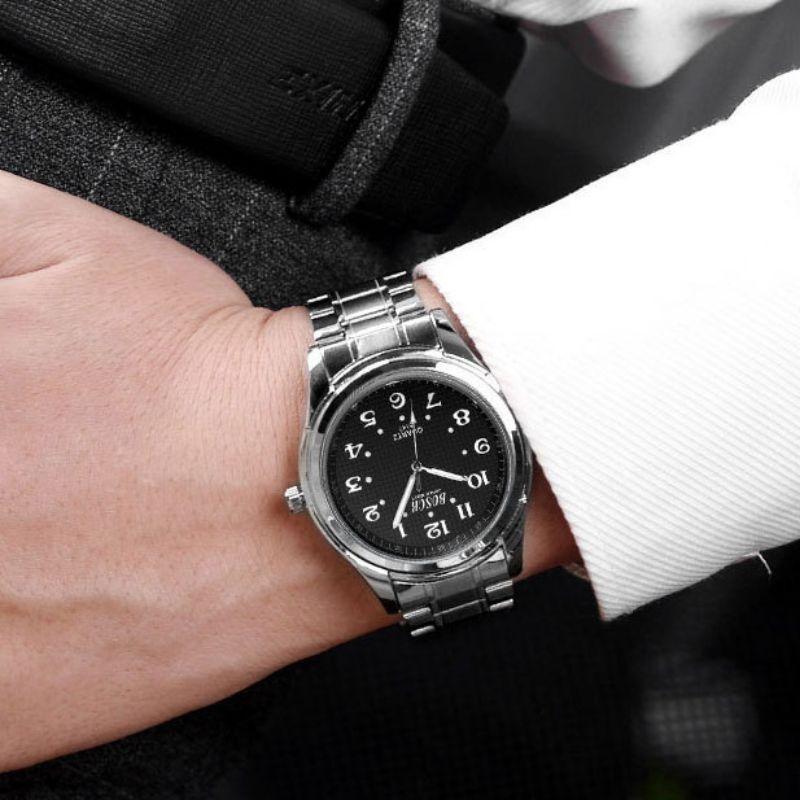 Ladies White Luminous Pointer Couple Watch Men Fashion 30 Meters Waterproof Luminous Digital Dial Steel Belt Quartz Watch