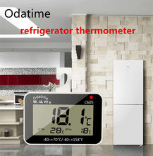 Odatime LCD Digital Screen Precision Refrigerator Thermometer Adjustable Stand Magnet Waterproof Freezer Temperature Alarm