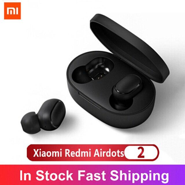 Original Xiaomi Redmi Airdots 2 Wireless Bluetooth 5,0 TWS Kopfhörer Hifi Bass Stereo Earphoens Headset TWS Drahtlose Ohrhörer