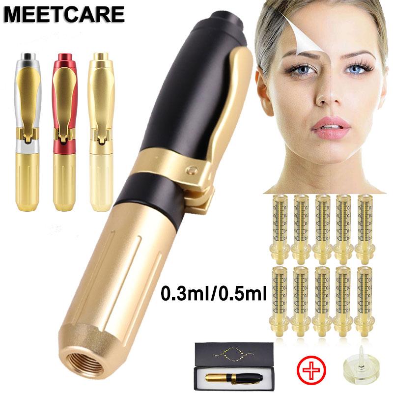 0.5ML 0.3ML Hyaluron Pen Atomizer Hyaluronic Acid Injection Gun Wrinkle Removal Lifting Lip Filler High Pressure Syringe Needle