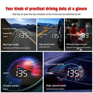Image 4 - GEYIREN M8 araba HUD Head Up Display OBD2 II EUOBD aşırı hız uyarı sistemi projektörü cam otomatik elektronik voltaj alarmı