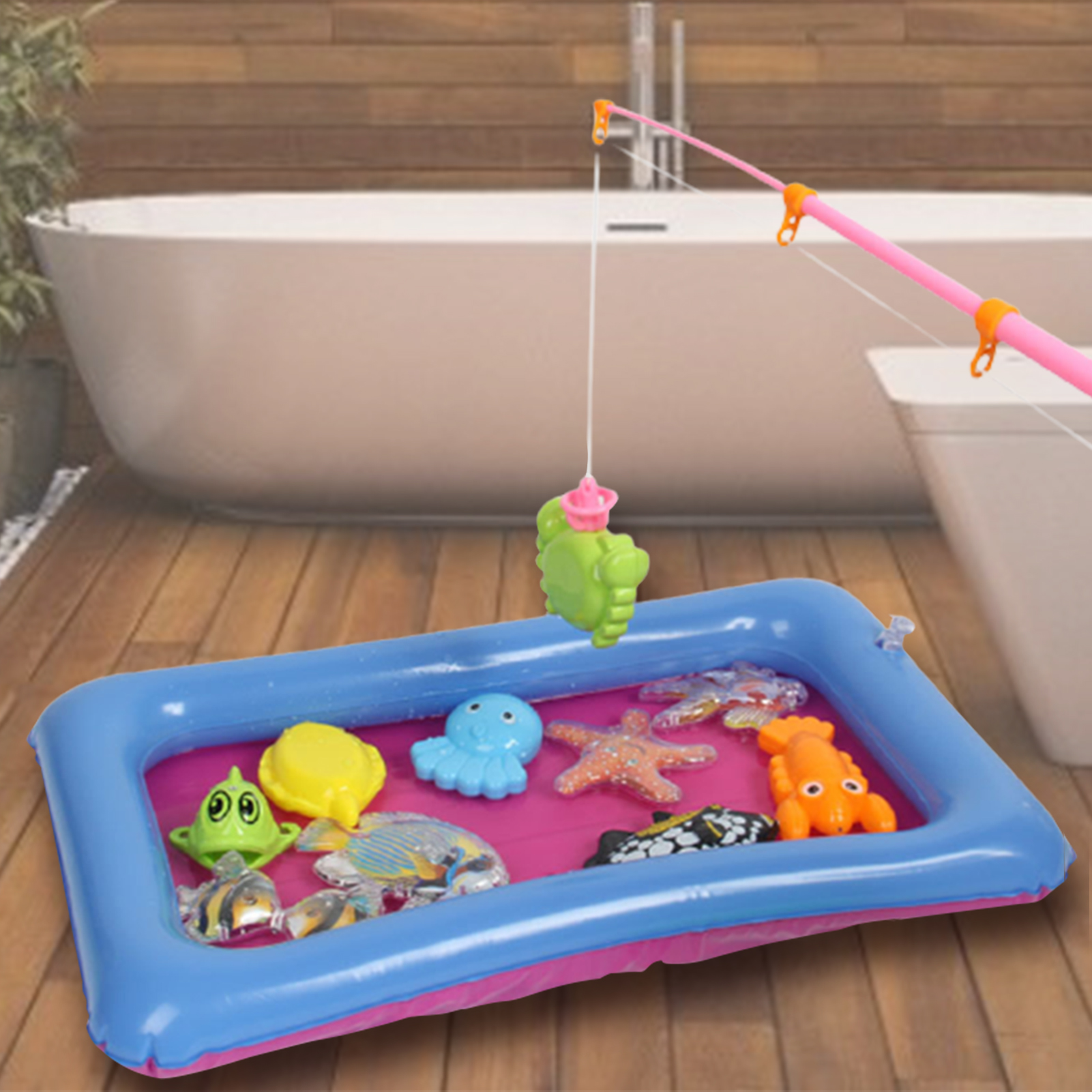 Children's Magnetic Fishing Set Fun Parent-child Interactive Toys Game Simulation Fishing Rods Pool Water Magnetic Fishing Toys