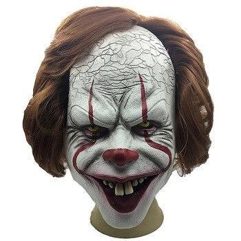 Horror Clown Joker Maschera da Clown Maschera di Halloween Costume Cosplay Puntelli Maschera da Clown Horror Maska Klauna Horroru H99F