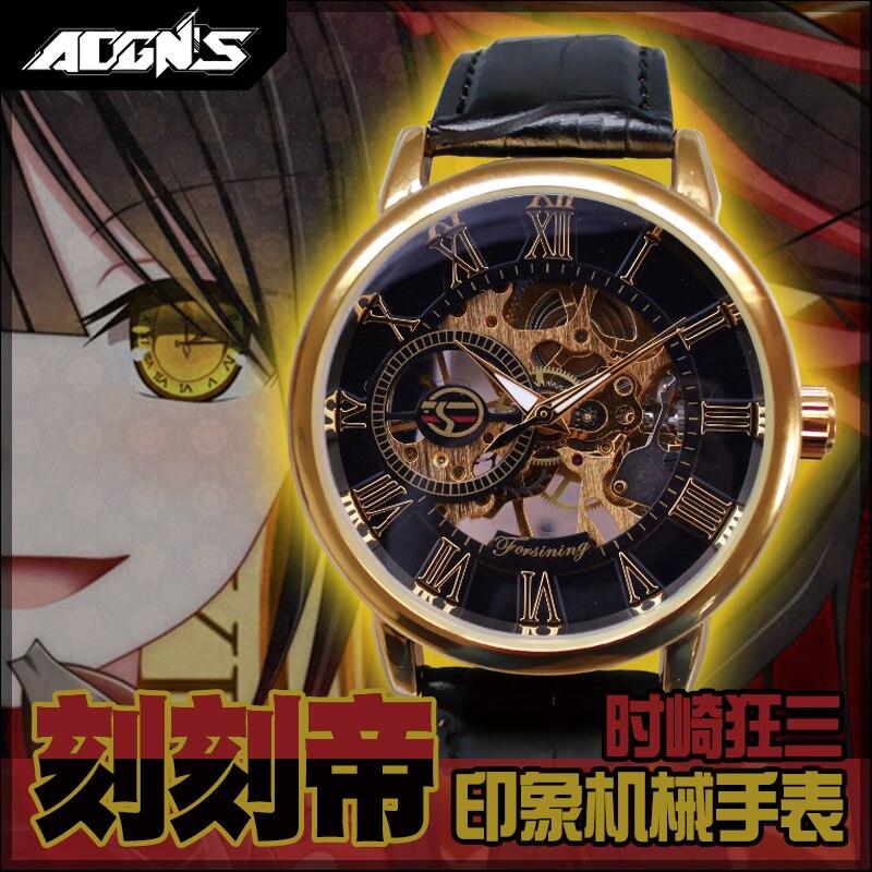 Anime DATE A LIVE Tokisaki Kurumi Cosplay Watch Fashion Unisex Student Electronic Watch Mechanical Watch Xmas Gift