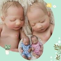OtardDolls 10inch full silicone reborn baby dolls twins reborn babies dolls Bonecas Bebes Reborn for child baby kid girl gift
