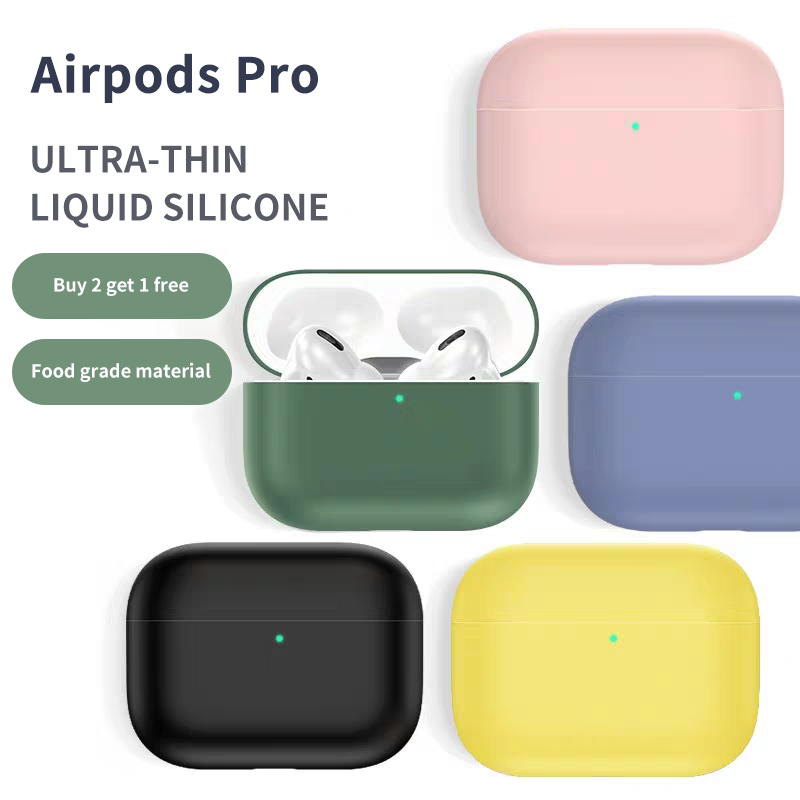 Asli Mewah Lucu Silicone Case untuk Airpods Pro Case Tahan Air Nirkabel Bluetooth untuk Apple Soft Cover Case Earphone Case