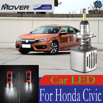 Car Headlight Bulbs LED Provided By SAMSUNG For Honda Civic LED Car 6500K White Light Auto Headlight  2X