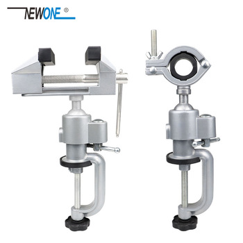 NEWONE Portable 360° Table Swivel Vise Woodworking Universal Mini Clamp-on Bench Rotating Drill Stand Hobby Use DIY - discount item  30% OFF Machinery & Accessories
