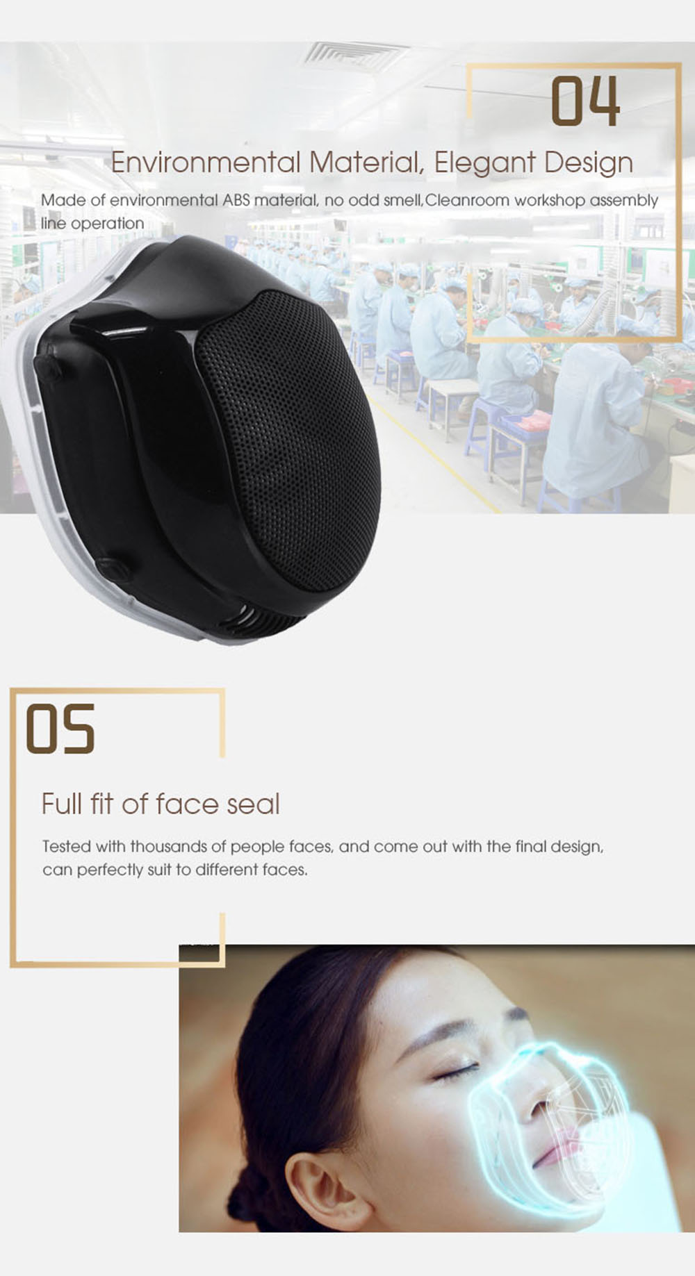 2020 stock Xiaomi Mi Q5PRO 5V USB electric masks- anti-haze sterilizing provides active air breath valve HEPA filter face cover