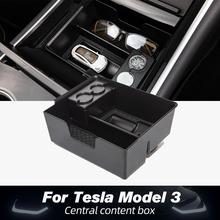 for tesla model 3 accessories car central armrest storage box auto container wallet phone glasses organizer case stowing tidying New Model3 Car Central storage Box for Tesla Model Three Accessories 2020 Interior Stowing Tidying Center Console Organizer