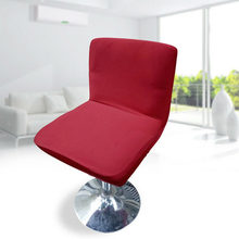 Stretch Bar Stool Low Back Short Chair Seat Cover Dining Chair Slipcover Design With Elastic Band(China)