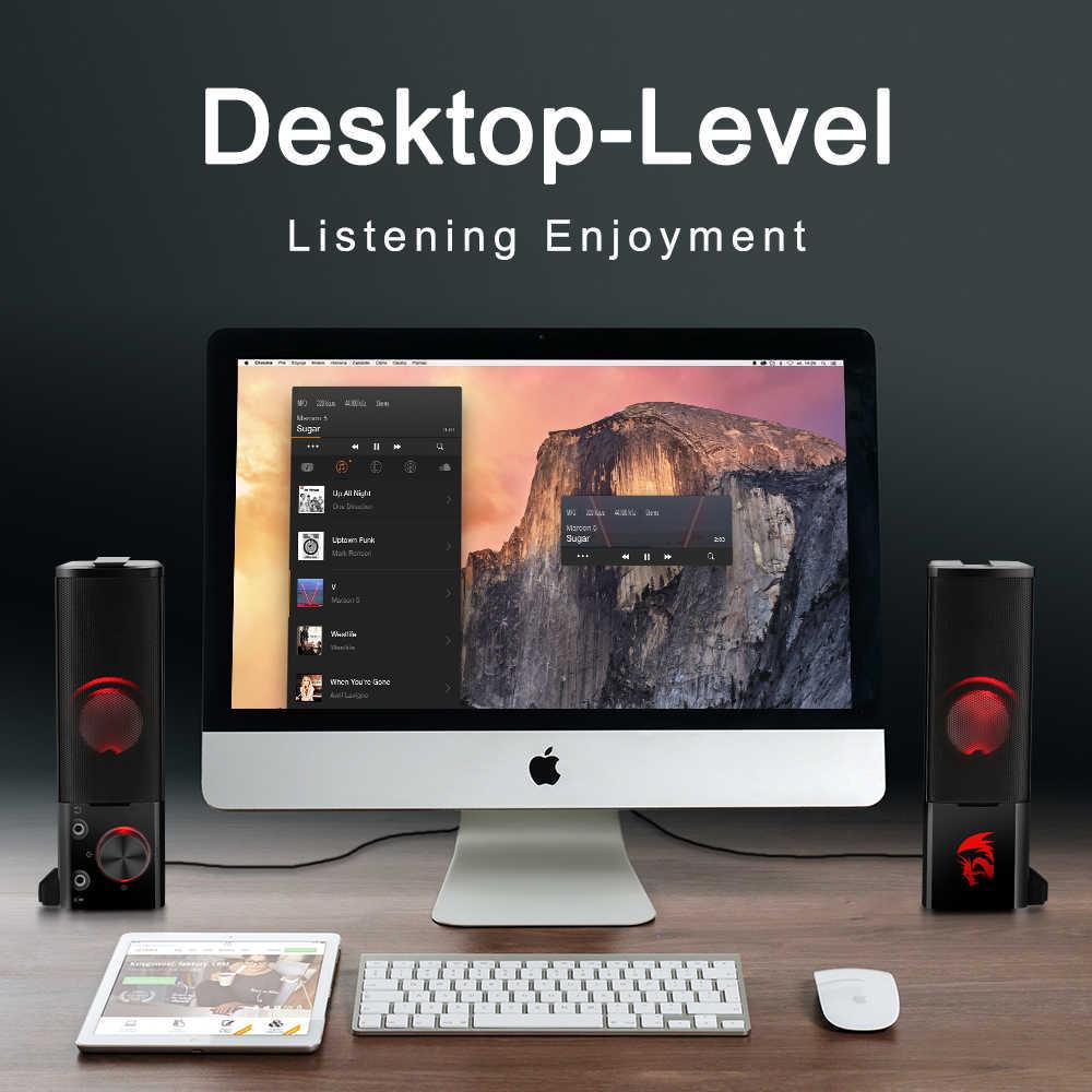 Redragon GS550 Aux 3.5 Mm Kuat 2.0 Surround Stereo Musik Speaker Sound Bar untuk PC Komputer Notebook TV Mp3 Pengeras Suara