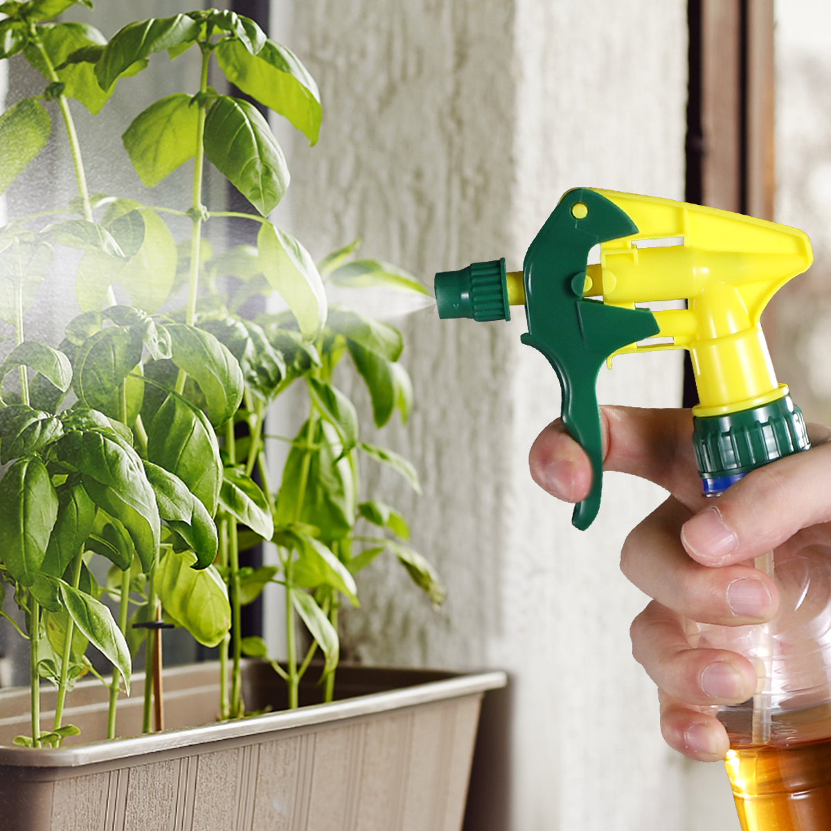 10pcs Universal Spray Bottle Trigger Replacement Plastic Spray Nozzles Thicken Sprayer Replacement Trigger Spray Tops Spray Head-5