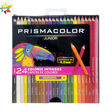 Original 12 15 24 36 48 prismacolor junior lápis de cor macia prismacolor sanford esboço lápis lapices de cor presente caixa de papel