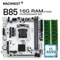 B85 материнская плата LGA 1150 комплект с процессором Intel I5-4690 и 2x8 ГБ = 16 ГБ DDR3 ОЗУ материнская плата USB3.0 SATA3.0 B85I PLUS