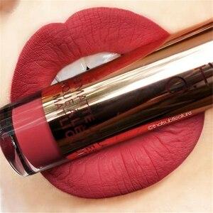 Image 1 - O.TWO.O lápiz labial mate líquido resistente al agua de larga duración de terciopelo brillo de labios maquillaje suave pigmento labial tinte labios rojos cosméticos