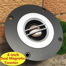 Dubbele Magnetische Speaker 1 pc 4 Inch 8 Ohm 100 W Tweeter Koorts Grade Zijde Film Hoge Geluid Heldere KTV tweeter 90mm 70mm 40mm