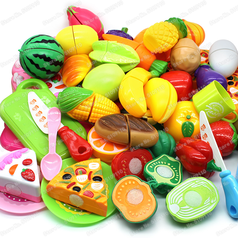 Kid's Kitchen Cutting Fruit Vegetable Food Kitchen Toys Children's  Girls Toys  Kitchen Set For Kids Play Gift For Girl Boy Kids