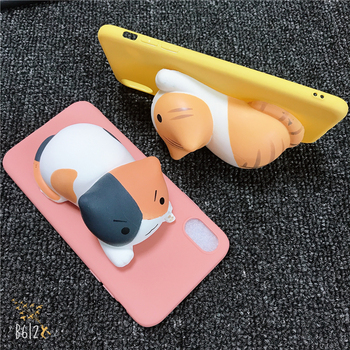 Phone Case For Vivo Y51 Y53 Y55 Y66 Y67 Y69 Y71 Y75 Y83 Y81 Y85 Y93 Y97 Y91 Y95 3D Black Cats Toy Soft Silicone Candy Cover image