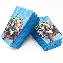 6 pçs caixa de pipoca/copo avengers festa suprimentos decoração favores crianças feliz aniversário festa suprimentos infantil chá de fraldas