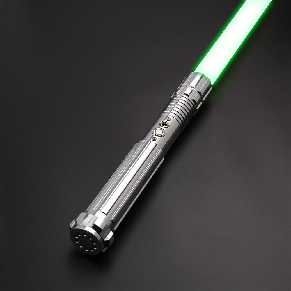 CIELTAN RGB Lightsaber Fight Heavy Dueling Sword Metal Handle 12 Colors 6 Sound Change FOC Force FX Toys juguetes Light Saber