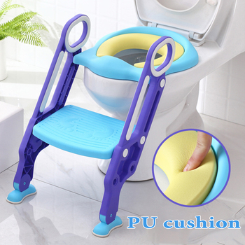 2020  New Baby Potty Training Seat Children's Potty Baby Toilet Seat With Adjustable Ladder Infant Toilet Training Folding Seat baby potty seat ladder children toilet seat cover kids toilet folding infant potty chair training portable