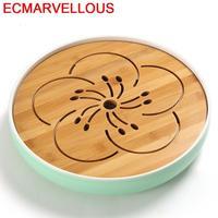 De Te Chino Dienblad Keukenhulpjes Serviertablett Table Ceremony Accessories Board Gongfu Holder Chinese Kung Fu Tea Tray